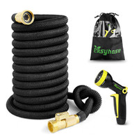 Wholesale expandable hose 75ft gun resale online - High quality FT FT garden hose expandable magic hose rubber nozzle with plastic water gun gardens outdoor products