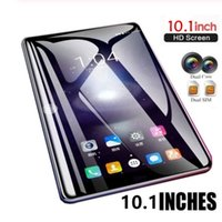 Wholesale android tablet resale online - new Years gift New WiFi Tablet PC Inch Ten Core G Network Android Arge IPS Screen Dual SIM Dual Camera Rear