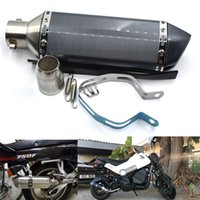 tubería akrapovic al por mayor-Para 4 colores 51mm Universal Escape modificado Motocicleta Akrapovic Escape Motocicleta Scooter Dirt Bike Silenciador Tubo YZF600 R6 YZF1000 R1 CBR