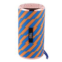 Wholesale subwoofer usb input resale online - TG153 TG Electroplating Wireless Bluetooth Speakers Portable Subwoofer Stereo Loudspeaker Handsfree Mic USB TF Card FM Radio