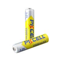 batería pkcell al por mayor-100% genuino PKCELL 10440 batería 1000MAH 1.2V NiMH recargable NO7 3A baterías para control remoto juguetes electrónicos herramientas ventiladores