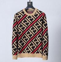 настоящий красный павлин оптовых-19ss зима Европа Париж американские звезды мода мужчины роскошные Спорт ff свитер повседневная женщины классическая рубашка пуловер О-образным вырезом трикотаж
