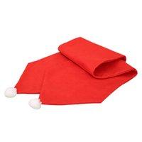 masa örtüleri sandalye toptan satış-Noel dokunmamış Kumaşlar Masa Örtüsü Masa Koşucu Elegance Sandalye Iplik Noel Partisi Düğün Dekor Masa Koşucular