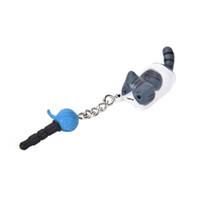 anti staub telefon kopfhörer großhandel-Super nette Staub-Stecker-glückliche Katze, die Ball 3.5mm Anti-Staub-Kopfhörer Jack Plug Stopper Cap für Telefon spielt