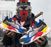 erkekler için kız oyuncakları toptan satış-Kutu ile Mens  puma  RS-X Oyuncaklar Bırakma Koşu Ayakkabıları Erkekler için Sneakers Erkek Sneaker Bayan Koşu Kadın Spor Kadın Eğitmenler ...