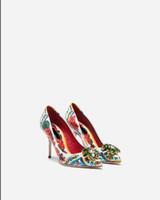 vestido de diamante de zapatos al por mayor-Venta caliente de las mujeres zapatos de vestir de tacón alto color diamante puntiagudo zapatos de cuero genuino sin cordones zapatos de fiesta con caja
