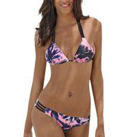 baixo pescoço sutiã venda por atacado-Mulheres maiô swimwear para as mulheres biquíni conjunto maiôs push-up cintura baixa acolchoado sutiã Bodysuits Imprimir pendurado no pescoço quente