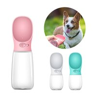 Wholesale cat water fountain for sale - Group buy Portable Pet Dog Cat Outdoor Travel Dispenser Plastic Water Bottle Feeder Bowl Drinking Fountain BPA Free Pet Supplies New