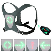 Wholesale safety reflective vest for running resale online - Safety Reflective Vest Cycling Waterproof LED Turn Signal Vest For Outdoor Running Night Walking Cycling Backpack