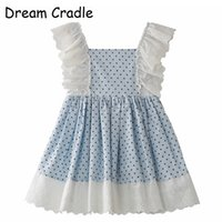 Wholesale spain clothing for sale - Group buy Dream Cradle Spain Kids Baby Clothes Spanish Girls Dress Lace polka Dots cotton J190612