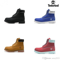 Wholesale high heeled shoes man for sale - Group buy 2019 Timberland botas Men Designer Sports Shoes Sneakers Casual Mens Womens Trainers Wheat Black Red Luxury Brand timberlands boots