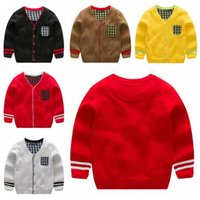f5a1b32f1 Wholesale hand knitted baby clothes for sale - Group buy Baby Clothes Boys  Grid Knitted Coat