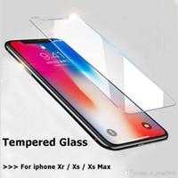 película de pantalla del teléfono móvil al por mayor-9H ultra-delgada de vidrio templado para el iPhone Xs Max Xr Xs 5.8 / 6.1 / 6.5 protector de pantalla de la película del protector del teléfono móvil de Cine