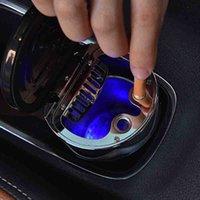кофейный зольник оптовых-Горячий портативный автомобильный дым подстаканник сигареты Пепельница Auto Truck LED пепельница с Campass JLD
