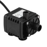 soğutma pompası toptan satış-Fırçasız 12 V DC Elektrikli Mini Su Sirkülasyonu Fırçasız Motor Hidroponik Tıbbi Soğutma için Dalgıç Pompa 280L / H Araba Styling
