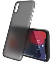 iphone задняя защитная крышка оптовых-Сверхтонкий матовый прозрачный чехол для iPhone XR XS Max 7 8 Plus Защитная задняя крышка 0.35 мм
