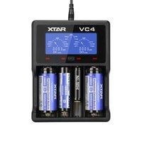 xtar pil şarj cihazı toptan satış-XTAR MC1 MC2 VC2 VC4 NiMH lityum NiCd pil şarj Hızlı şarj 10440 14500 18500 18650 32650 26650 pil şarj cihazı