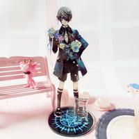 Wholesale ciel toy resale online - Anime Black deacon Ciel Acrylic keychain Kuroshitsuji Sebastian fashion cute funny cartoon Llavero porte clefs cm toys gifts