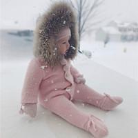 mäntel für jungen großhandel-Neugeborenes Baby Tragen Winter Overall Schneeanzug Baby Warme Strampler Baumwolle Mädchen Kleidung Kindermantel Kleinkind Kleidung