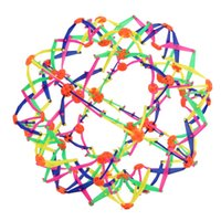 crianças bola se expande venda por atacado-Miúdo engraçado adulto brinquedo bola telescópica Expansível Esfera Mini Bola Crianças Brinquedo Arco-íris Colorido Flor Bola Mágica