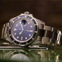 relojes de acero para niñas al por mayor-Hombres Mujeres Diamante relojes de señora Girl diseñador del partido del Rhinestone reloj de los hombres 2813 mecánica de acero inoxidable automática Auto-viento azul reloj de pulsera