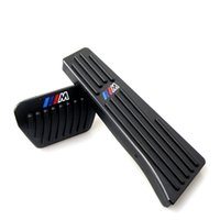 Wholesale bmw brake pedals resale online - No Drill Silver Black Aluminum Gas Brake Pedal For BMW Series X1 X3 X5 X6 Accelerator and brake pedal with M Logo