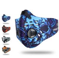 toz maskesi kirliliği toptan satış-Yüksek Kalite Erkekler / Kadınlar Aktif Karbon Toz geçirmez Bisiklet Yarım Yüz Maskesi Anti-Kirlilik Bisiklet Bisiklet Açık Eğitim maske yüz kalkanı