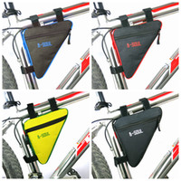 üçgen su geçirmez çanta toptan satış-Üçgen Bisiklet Çanta Ön Tüp Çerçeve Bisiklet Bisiklet Çanta Su Geçirmez MTB Yol Kılıfı Tutucu Eyer Bicicleta Bisiklet Aksesuarları ZZA991 250 ADET