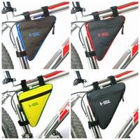 wasserdichte dreieck-rahmentasche großhandel-Triangle Bike Bag Vorderradrohrrahmen Radfahren Fahrrad Taschen Wasserdichte MTB Road Pouch Halter Sattel Bicicleta Bike Zubehör ZZA991 250 STÜCKE