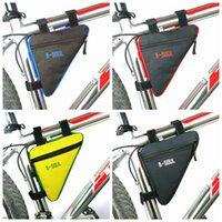 sac accessoires cadre achat en gros de-Triangle Vélo Sac Avant Tube Cadre Vélo Vélo Sacs Étanche MTB Route Poche Titulaire De La Selle Bicicleta Vélo Accessoires ZZA991 250PCS