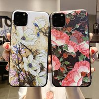 Wholesale phone camellia for sale – best 3D Emboss Flower Phone Case For iPhone X XR Xs Max Plus Pro Max Camellia Rose Leaf Cover For iPhone Plus