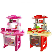 Wholesale baby kitchen sets for sale - Group buy Kids Kitchen Toys Children Electronic Kitchens Set Large Cooking Simulation Model For Girl Baby Pretend Play And Dress Up yc D1