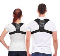 apoio de costas corrector de postura cinta venda por atacado-Dropshipping Posture Corrector Clavícula Spine Voltar Ombro Lombar Brace Belt Suporte Correção Postura Impede Slouching