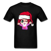 camisola de pescoço oversized tripulação venda por atacado-Camisola de natal Verão Todo o Algodão Tripulação Pescoço Tops T Camisa de Manga Curta Slim Fit T-Shirt de Impressão de Grandes Dimensões T camisa