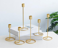 Wholesale metal angels home decor resale online - Metal Candle Holders Gold Candlestick Fashion Wedding Candle Stand Exquisite Candlestick Christmas Table Home Decor