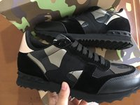 Wholesale original shoes for sell for sale - Group buy Original Box High Quality Hot Selling Camouflage Casual Shoe For Men Cheap Shoe Spike Rivet Man Run Shoe Genuine Leather EUR