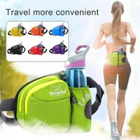 ingrosso bottiglia di sacchetti più freddi-Raffreddare Sport Outdoor Running Escursionismo Impermeabile Unisex Porta Bottiglia d'acqua Marsupio # 522785