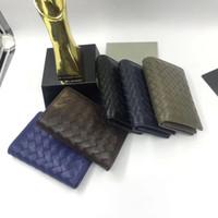 echtes leder handwerk groihandel-Hiqh Quality Wholesal Modedesigner-Kartenhalter gefertigt aus echtem Leder Herren-Kartenetui Europear-Stil 3 Farben OEM sind willkommen niedrigen Preis