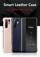 Wholesale mirror protection covers for sale - Group buy For Huawei P30 Pro Case Original Mirror Smart View Wake Sleep Up Cover Leather Protection Flip Case for Huawei P30 Flip Case