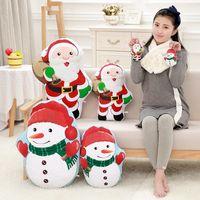 renkli çocuklar sırt çantaları toptan satış-Çocuklar Oyuncak Kız Çocuk Doğum Noel Hediyesi Renkli Yumuşak Peluş Noel Sırt Çantası Noel Baba Anahtarlık kolye Bebekler için