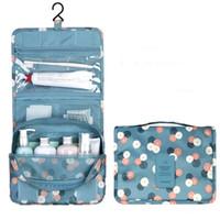 Wholesale make up bag hooks resale online - Women Cosmetic Bags Fashion Makeup Bag Unisex Portable Folding Multifunction Waterproof Wash Bag Large Capacity Hanging Type Make Up Bag