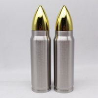 Wholesale military water bags for sale - Group buy Bullet Shape Thermos ml Insulation Cup Stainless Steel Vacuum Water Bottle Military Missile Cup Coffee Mug LJJA3201