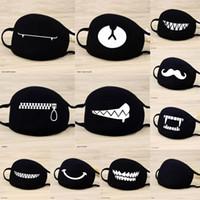 Wholesale black men masks resale online - 1 Cotton Masks Keep Warm Cartoon Funny Patten Face Mouth Mask Unisex Banquet Party Mouth Muffle Respirator Black Style