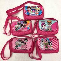 paquetes de juguetes para niños al por mayor-LOL mochila juguetes para niños muñecas lol bolsas de almacenamiento Favor de la fiesta de cumpleaños para las niñas Bolsa de regalo recibir paquete Paquete de playa de natación
