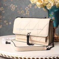 ursprüngliche troddel großhandel-Saint original hochwertige Designer Luxus Handtasche Brieftasche klassischen Brief Quaste Umhängetasche Leder Damen Kette Tasche