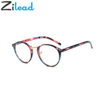 старинная оправа оптовых-Zilead Vintage Round Glasses Frame Retro Female  Designer Gafas De Sol Spectacle Plain Eye Glasses Gafas Eyeglasses Eyewear