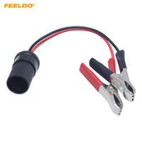 adaptador de cabo da bateria venda por atacado-FEELDO 12 V Car Moto Trator Barco Bateria Terminal Clip-on Isqueiro Soquete de Energia Plugue Adaptador de Cabo # 5981