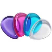 silicone transparente para água venda por atacado-Limpar Silicone Maquiagem Em Pó Puff Gota De Água Forma Geléia Cosméticos Sopro Compõem Ferramentas 4 cores RRA1228