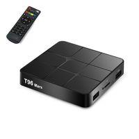 set box medya oynatıcı wifi toptan satış-60 takım T96 Mars Akıllı TV Kutusu Android 7.1 S905 W Set-Top Box WiFi 4 K VP9 H.265 DLNA HD2.0 Medya Oynatıcı PK X96 mini V 88