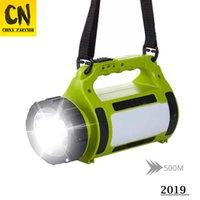 focos led de alta potência venda por atacado-Em estoque Lanterna LED de alta potência Lanterna Holofotes 20000 lumens lanterna de acampamento Luz lateral luz vermelha + luz branca 5 modos de iluminação